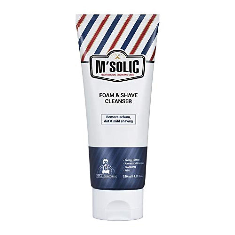 上期待して丈夫【SNP公式】 M'SOLIC フォーム&シェーブ クレンザー/M'SOLIC FOAM & SHAVE CLEANSER メンズ 韓国コスメ オールインワン シェービングフォーム 洗顔フォーム クレンジング