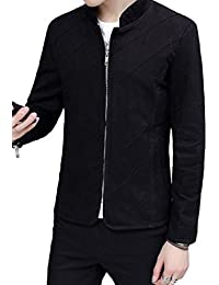 [Nana_Collection(ナナコレクション)] 春 立襟 斜めステッチ 前開き 袖口 ジッパー ジャケット コート男性