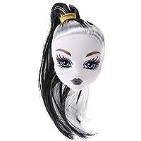 Domybest 人形頭 人形アクセサリー ウィッグ ヘア 人形ヘッド バービー ケーキ人形 魔女 エルフ DIY 玩具 ドール髪 かつら ボディアクセサリー キット 着せ替え人形パーツ ごっこ遊び 子供 キッズ 女の子 無毒