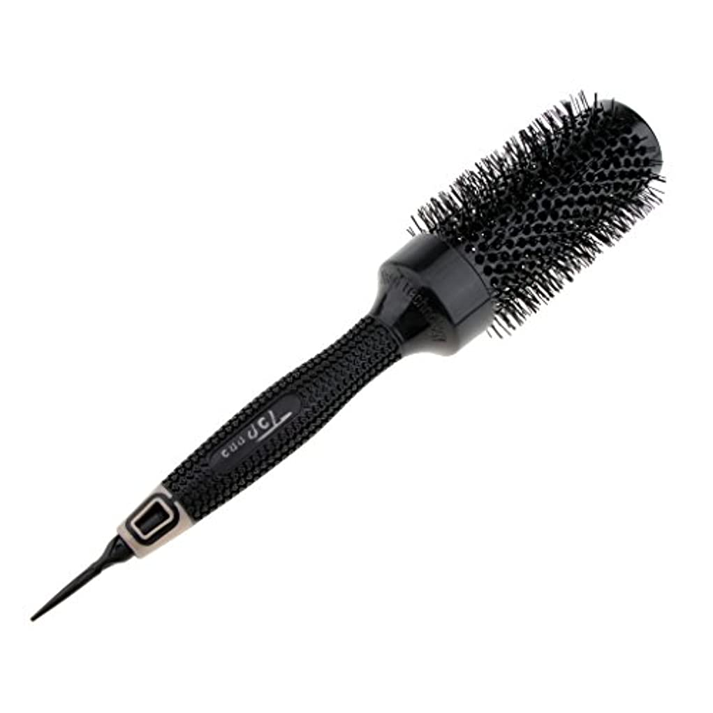 視力ちょっと待ってブラストロールブラシ ロール ヘアブラシ コーム 櫛 ヘアスタイリング 耐熱仕様 カール 巻き髪 全6サイズ選べる - 6.2cm