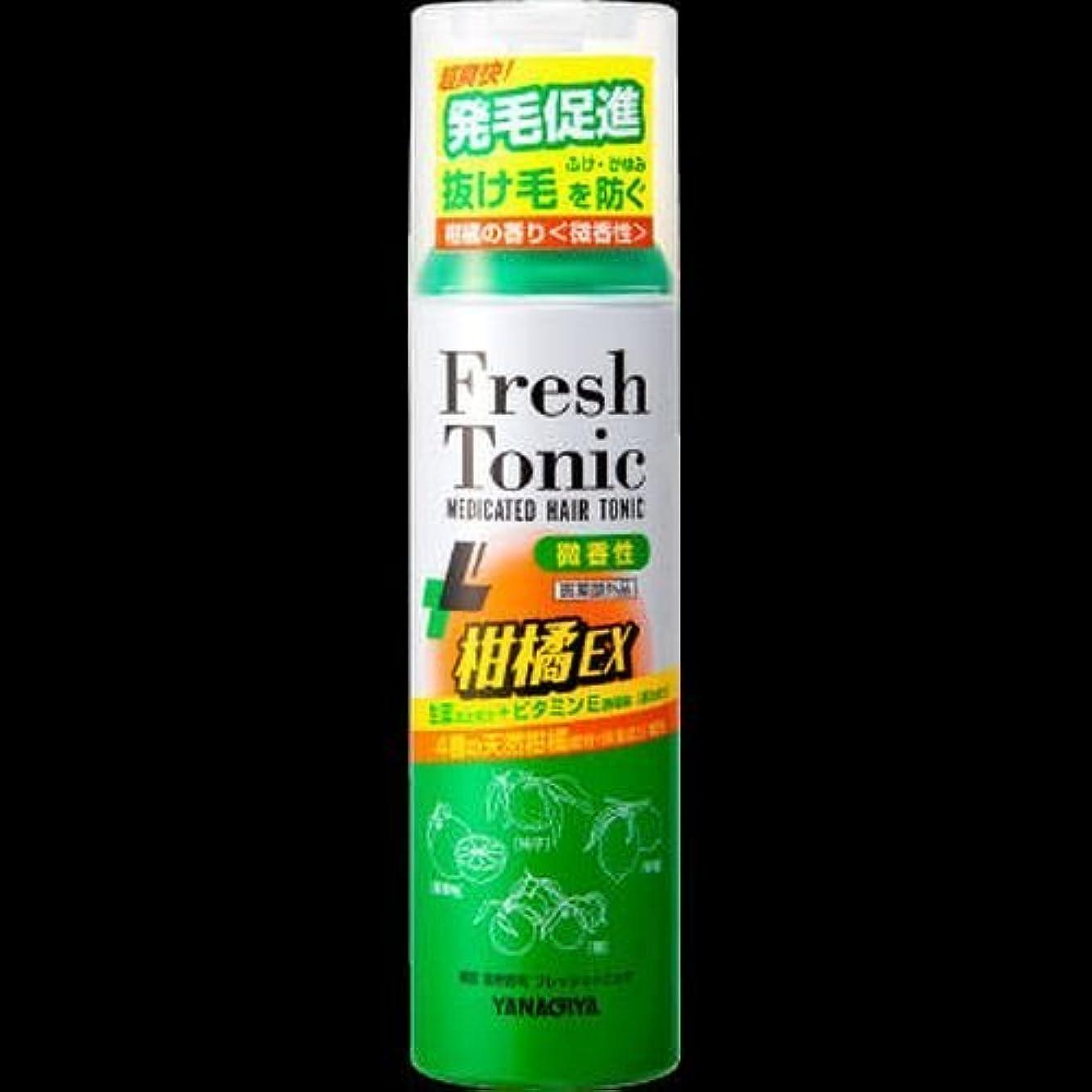 道路素晴らしいです港【まとめ買い】柳屋 薬用育毛 フレッシュトニック 柑橘EX <微香性> 190g ×2セット