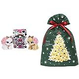 プレゼントペット ピンキーリボン + インディゴ クリスマス ラッピング袋 グリーティングバッグ3L クリスマスツリー ダークグリーン XG984