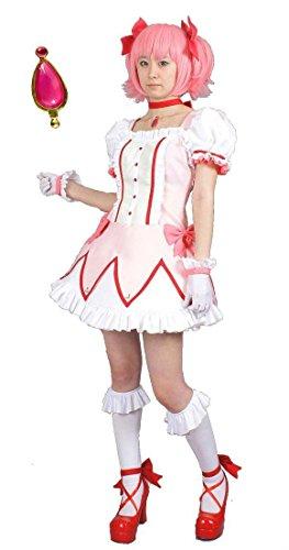 MilicaBooks 魔法少女まどか☆マギカ 鹿目まどか ウィッグセット Mサイズ ソウルジェム付 コスプレ 衣装
