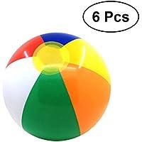 VORCOOL カラフルインフレータブルビーチボール 水泳プール ウォーターボールおもちゃ 子供用