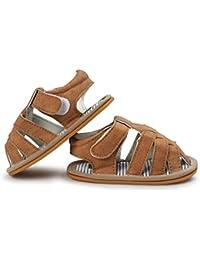 ルテンズ(Lutents )乳児靴 サンダル ストライプ マジックテープ  履きやすい キッズ 女の子 男の子 滑り止め 子供 靴  シンプル ベビーシューズ 耐磨 おしゃれ  カッコイイ 11-13CM 誕生日 プレゼント