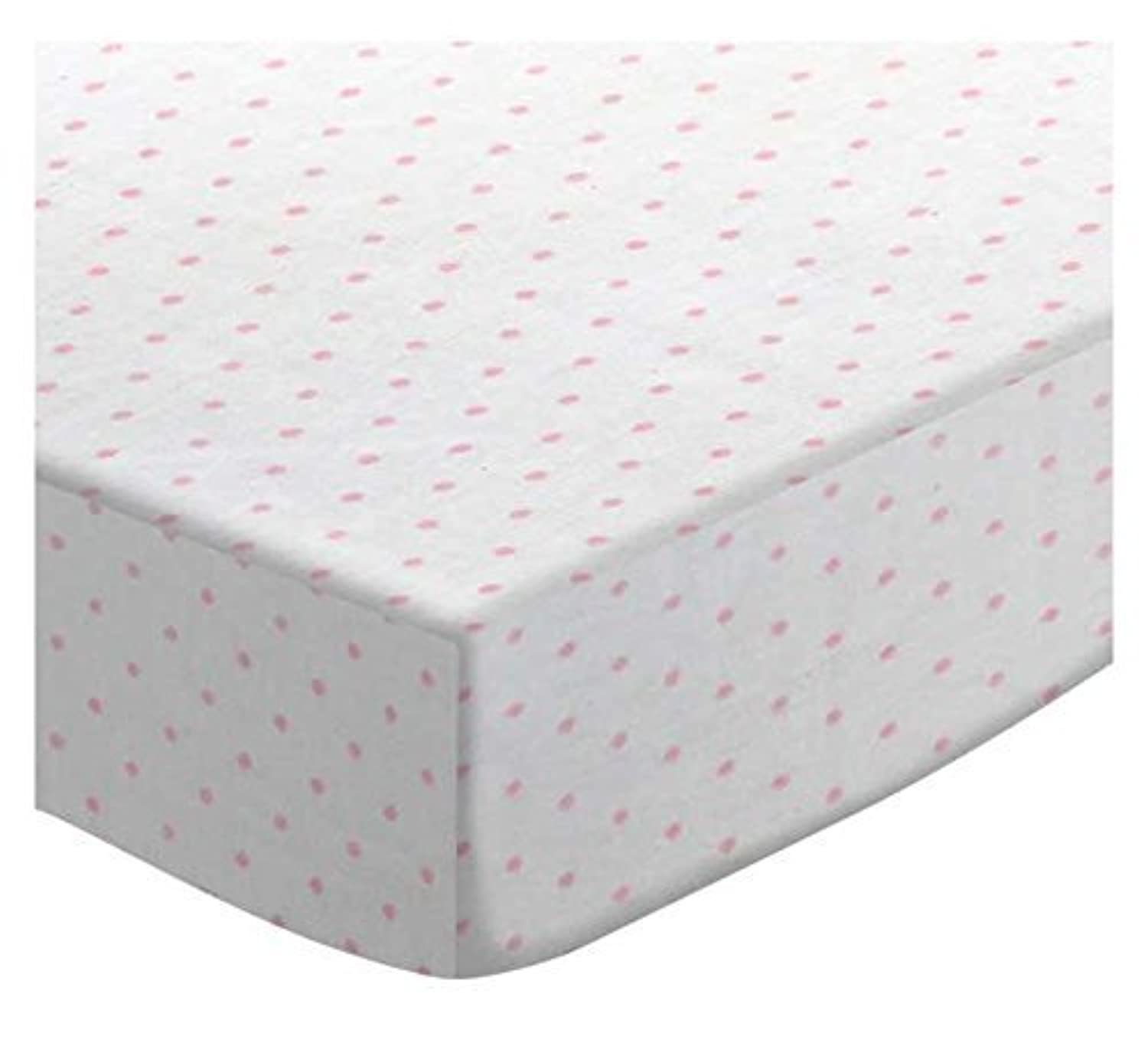 SheetWorld Fitted Pack N Play (Graco) Sheet - Pink Pindot Jersey Knit - Made In USA [並行輸入品]