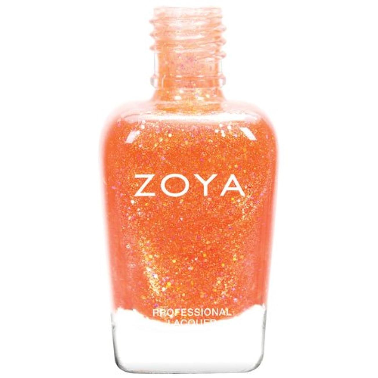 ZOYA ゾーヤ ネイルカラーZP740 Jesy ジェシー 15ml Tickled&Bubbly 2014 Summer Collection コーラルオレンジ グリッター 爪にやさしいネイルラッカーマニキュア