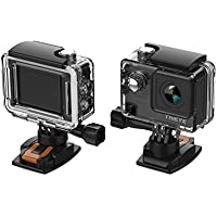 ThiEYE E7 ネイティブ4K アクションカメラ 20MP WiFiスポーツアクションビデオカメラウェアラブルカメラ スポーツカメラ 音声コントロールとリモートコントロール 電子画像安定化 長時間露光 自動低照度 魚眼設定 遠隔操作 60m防水