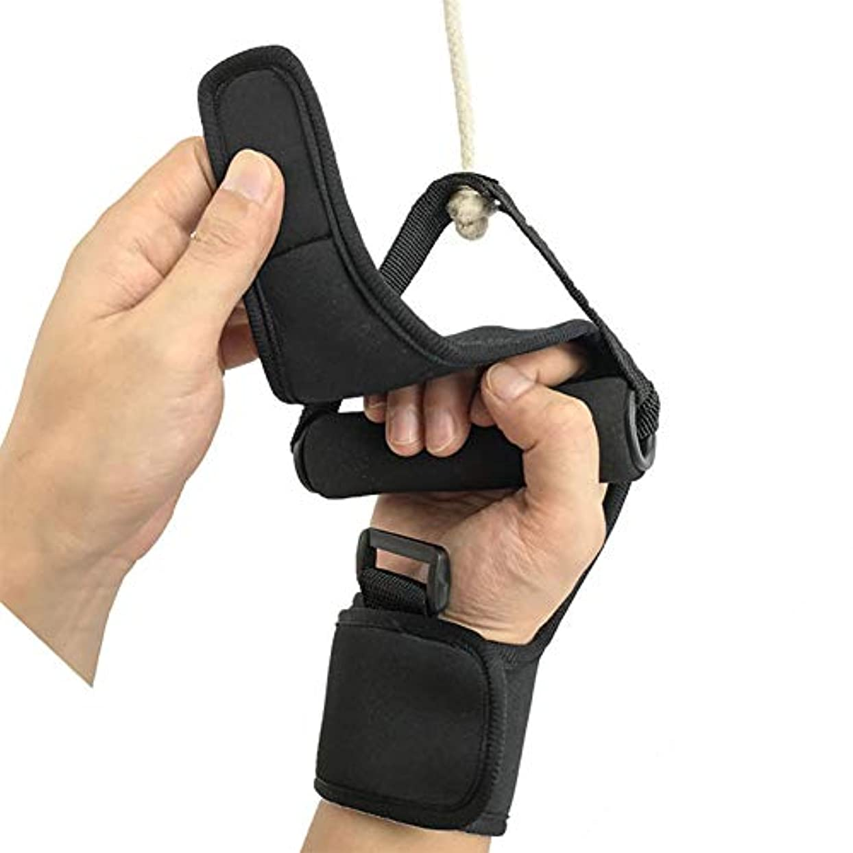 生むキャンパス識別する固定手袋リハビリテーション訓練機器アンチスキッド通気性ハンドフィストフィンガーグローブ、