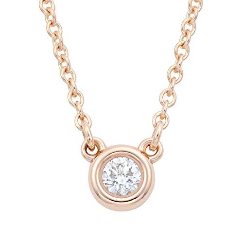 [ティファニー] TIFFANY ダイヤモンド 0.07ct 18KRG ローズゴールド エルサ・ペレッティ ダイヤモンド バイ ザ ヤード ペンダント ネックレス 41cm 【並行輸入品】 28274521
