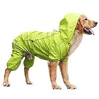 RAIIKKU 犬レインコートカッパ小型犬中犬大型犬レインコートペットレインスーツペット防水高品質耐久性快適屋外2色5サイズ受け取り可能な犬レインコート犬レインコートレジャーマネーレインプルーフジャケット (色 : オレンジ, サイズ : M)