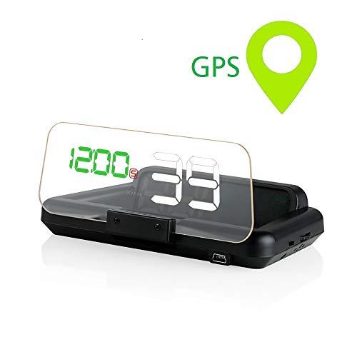 ニコマク NikoMaku HUD ヘッドアップディスプレイ GPS【本物のHUD T900 2重映像なし】 日本語説明書 後付け 車載スピードメーター 時速をフロントガラスに 過速度警告搭載
