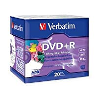 Verbatim - 20 x DVD+R - 4.7 GB ( 120min ) 16x - white glossy - ink jet printable surface - slim jewel case