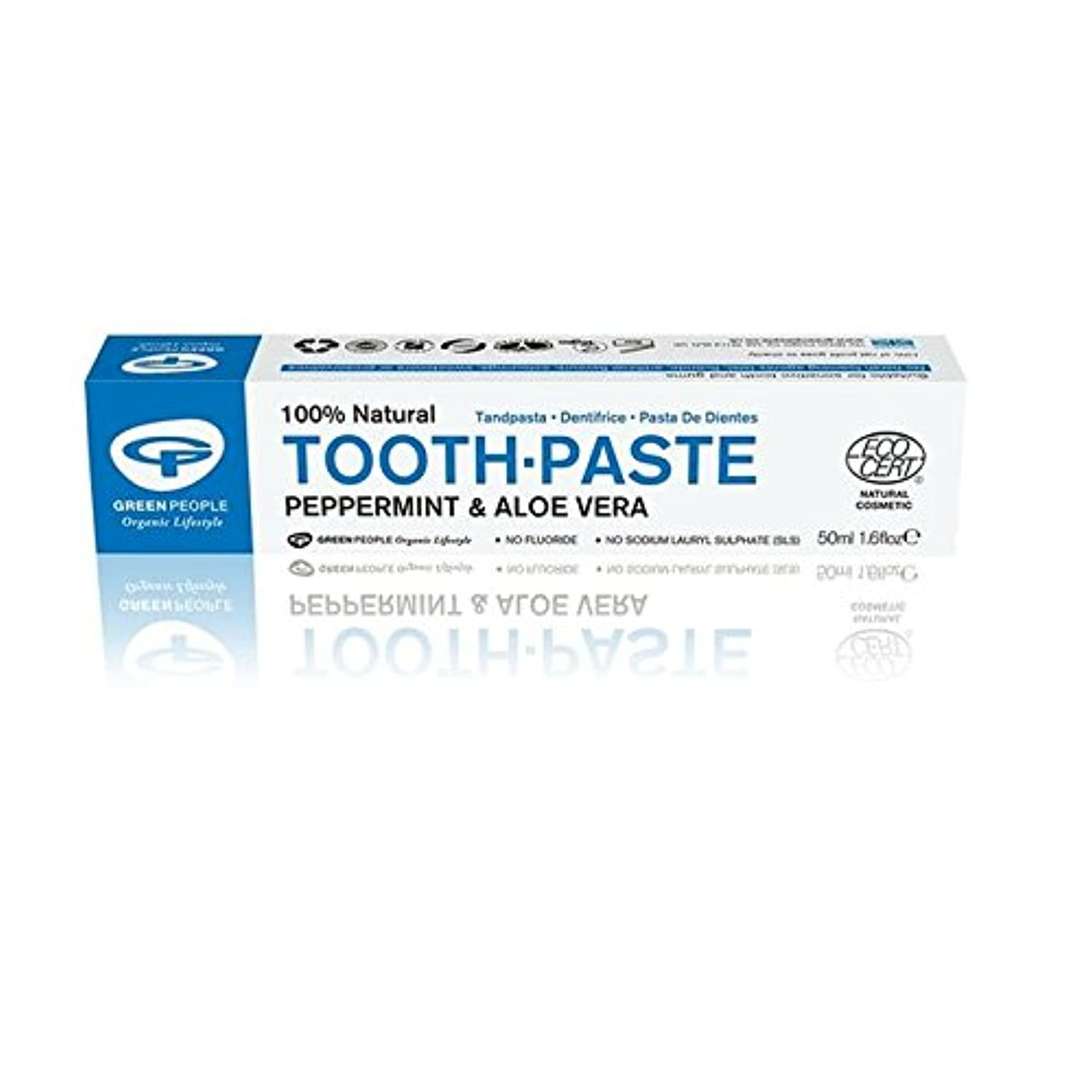 Green People Natural Mint Toothpaste 50ml - 緑の人々の自然ミント歯磨き粉50ミリリットル [並行輸入品]