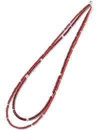 (ブローディアバイゴールドブラッド) Brodiaea by goldblood ダブルビーズロングネックレス FREE(フリーサイズ) RED(レッド)【-】