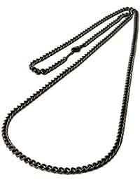 チタン 喜平ネックレス 60cm 3.3mm幅 (ブラックイオンプレーティング加工) 金属アレルギー対応