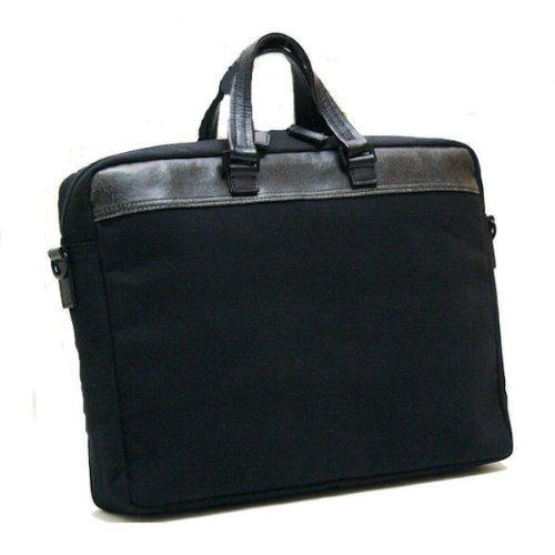 [豊岡木和田鞄] 織人 帆布 ビジネスカジュアルバッグ ブラック 5919-BK
