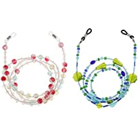 MagiDeal 2pcs Bohemian Eyeglass Sun Glasses Cord Holder Neck Strap Necklace