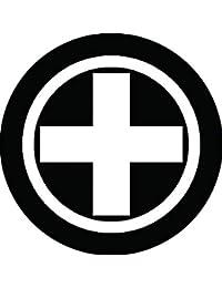 家紋シール 丸に十字クルス紋 布タイプ 直径40mm 6枚セット NS4-0631