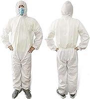 防護服 保護服 使い捨て 大人 不織布 快適 通気 防塵 防水 隔離スーツ 男女兼用