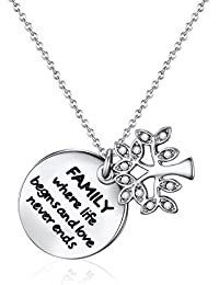 Mestige Family Forever Necklace with Swarovski® Crystals, Tree of Life, Gift