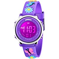 Kids Watch for Boys Girls 3D Cute Cartoon Toddler Watch Digital Silicone Band Alarm Stopwatch Digital Child Wristwatch 50M Waterproof