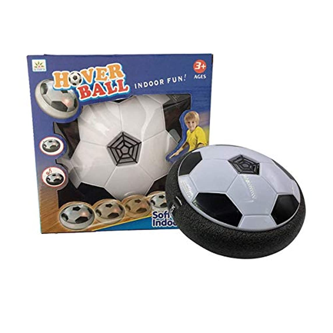 解決する人口ビートエアサッカーインドアパワーサッカーサッカーledライトフロートとスリップスポーツ屋内屋外デュアルナイト親子ゲーム玩具子供誕生日プレゼント