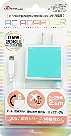 new2DSLL/2DS/new3DSLL/new3DS/3DSLL/3DS/DSiLL/DSi用カラフルACアダプタ(ライトグリーン×ホワイト)