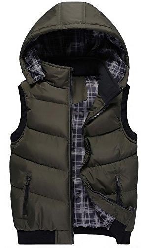 [해외]Vocni 남성 안솜 베스트 남성 방한 베스트 아웃웨어 자켓 남성 솜 조끼 후드 무지 경량/Vocni Men`s cotton batting vest Men`s cold out Best out wear Jacket Men`s batting waistcoat with hoods Solid lightweight