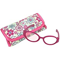Sophia's 18 Inch Doll Pink Sunglasses & Case, 2 Pc. Set, Perfect for 18 Inch American Dolls Clothes & More! by , Hot Pink Doll Glasses & Floral