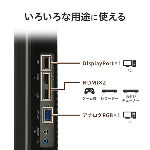 『I-O DATA モニター 31.5インチ HDMI×1 DP×1 ADSハーフグレア スピーカー付 年保証 土日サポート EX-LD3151DB』の3枚目の画像