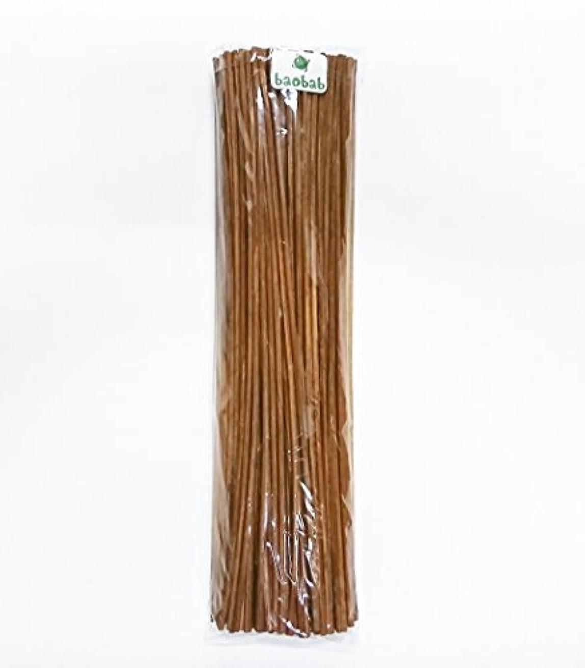 小数焼くクスコbaobab(バオバブ) リードディフューザー用 リードスティック リフィル [ラタン スティック] 30㎝ 100本 (ブラウン)