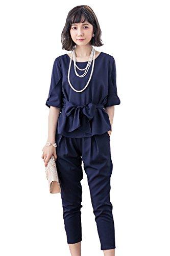5730ea72bdbc9 ACUX(エックス) パンツドレス セットアップ スーツ 袖あり パーティードレス 結婚式 ドレス パンツ