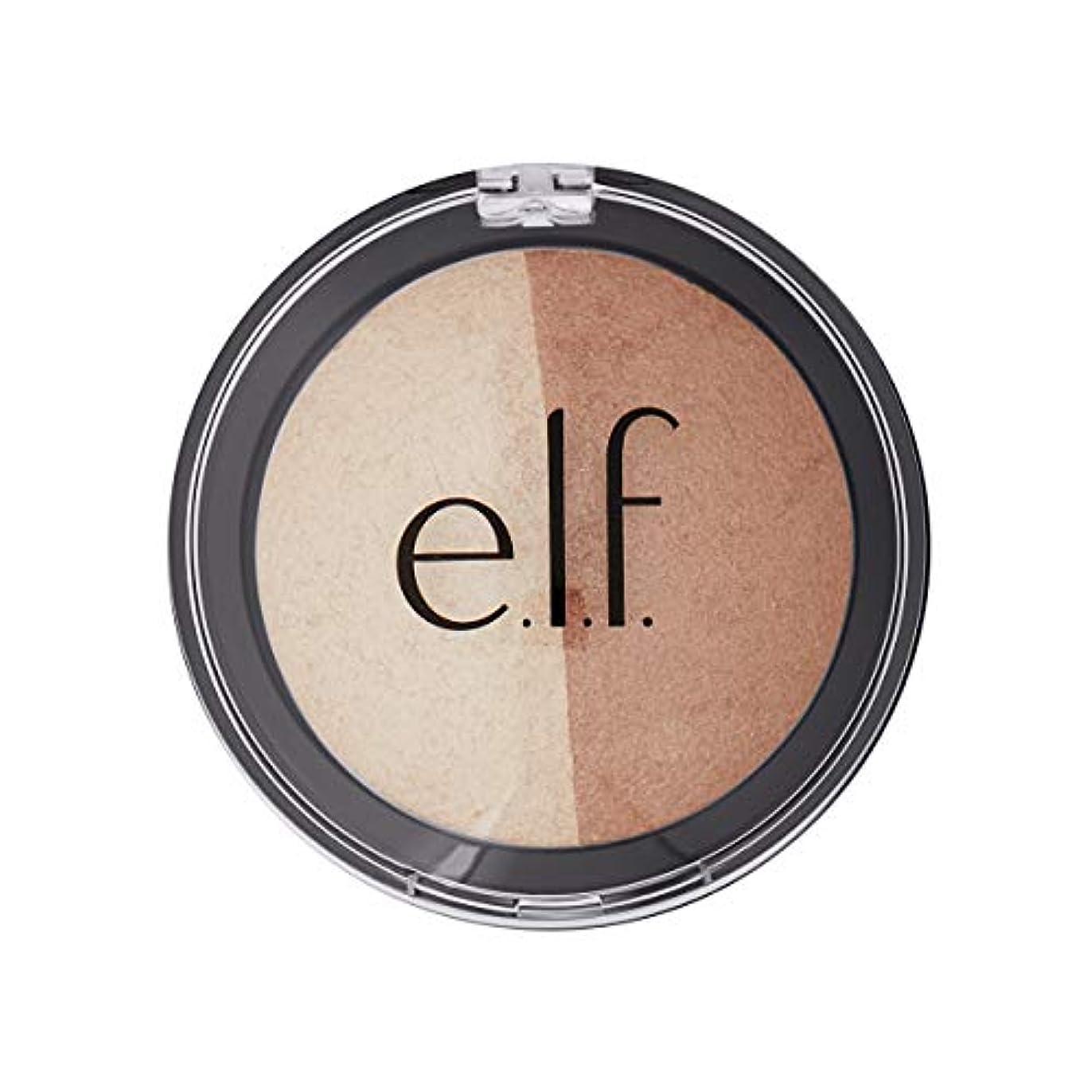 ディーラー率直な王朝E.L.F. Cosmetics, Baked Highlighter & Bronzer, Bronzed Glow, 0.183 oz (5.2 g)
