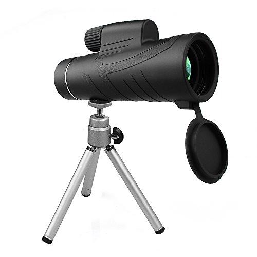単眼鏡 ARCHEER 10X42高倍率 単眼望遠鏡、昼夜兼用  屋外鳥観察、アウトドア旅行、観光、狩猟/登山/スポーツ観戦など電話アダプタマウント 三脚付き