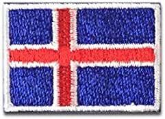アイスランド 国旗 アイロン ワッペン (ミニ 約33x24mm)