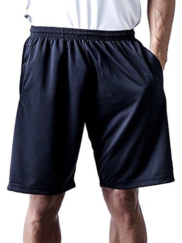 ティーシャツドットエスティー ハーフパンツ ドライ 無地 ポケット付き UVカット 4.4oz メンズ ブラック L