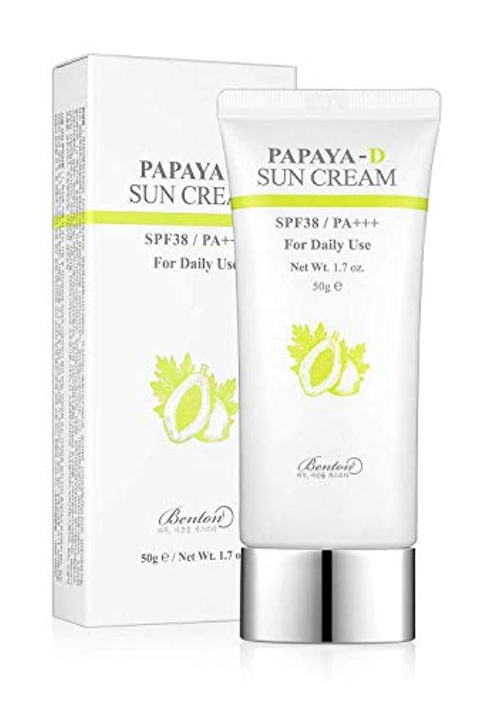 シール仮定、想定。推測求めるBENTON ベントン Papaya-D sun cream サンクリーム (50g) SPF38/PA+++ 韓国 日焼け止め
