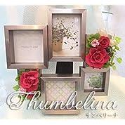 【枯れない生花・プリザーブドフラワー】 モダンなデザインのフォトフレームにアレンジしたプリザーブドフラワーを結婚祝い・新築祝い・お誕生日などの贈り物にどうぞ。