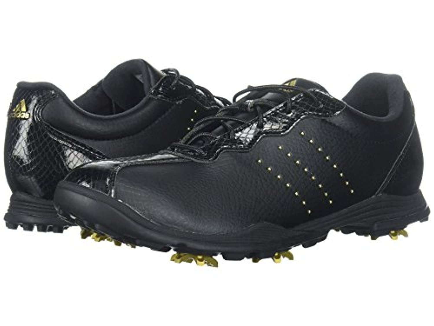 (アディダス) adidas レディースゴルフシューズ?靴 Adipure DC Core Black/Gold Metallic/Core Black 7.5 (24.5cm) M