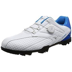 [ミズノゴルフ] ゴルフシューズ ライトスタイル 002 ボア 27 ホワイト×ブルー 26.0 3E (現行モデル)