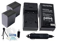 2- Pack np-fh100大容量交換用電池with急速旅行充電器Sony dcr-dvd308dcr-dvd403dvr-dvd404dcr-dvd405dcr-dvd406–Ultraproボーナス含ま:カメラクリーニングキット、スクリーンプロテクター、ミニカメラ旅行三脚