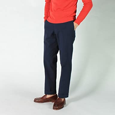Seersucker Trouser 114213: Navy