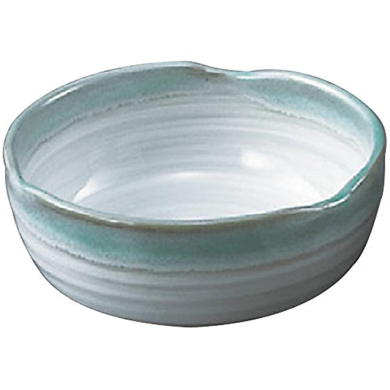 山下工芸(Yamasita craft) 緑水 三ツ山刺身鉢 15×15×5.8cm 11501190
