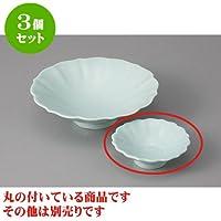3個セット 刺身 翡翠(強化)花形千代口 [8.5 x 2.8cm] 【料亭 旅館 和食器 飲食店 業務用 器 食器】
