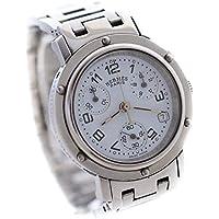 エルメス HERMES クリッパークロノ CL1.310 腕時計 シルバー レディース クオーツ ホワイト文字盤 [中古]