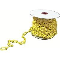 強化プラスチック製チェーン サイズ:30m 色:黄色 強化プラスチック製 チェーンスタンドと合わせてのご使用に最適