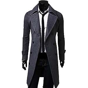(アルファーフープ) α-HOOP メンズ シンプル 無地 シック コート 3 色 展開 大きい サイズ も M ~ XL まで 大人 男 性 用 EO1...