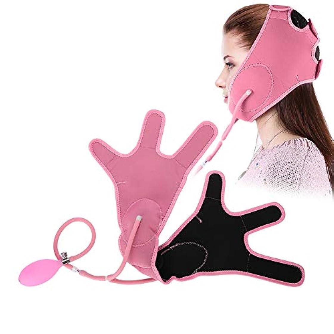 禁じる密輸誰も持ち上がる表面ベルト 表面マッサージベルト 包帯 薄い 表面ベルトの美用具 Vのための顔の包帯減量は二重あごの形