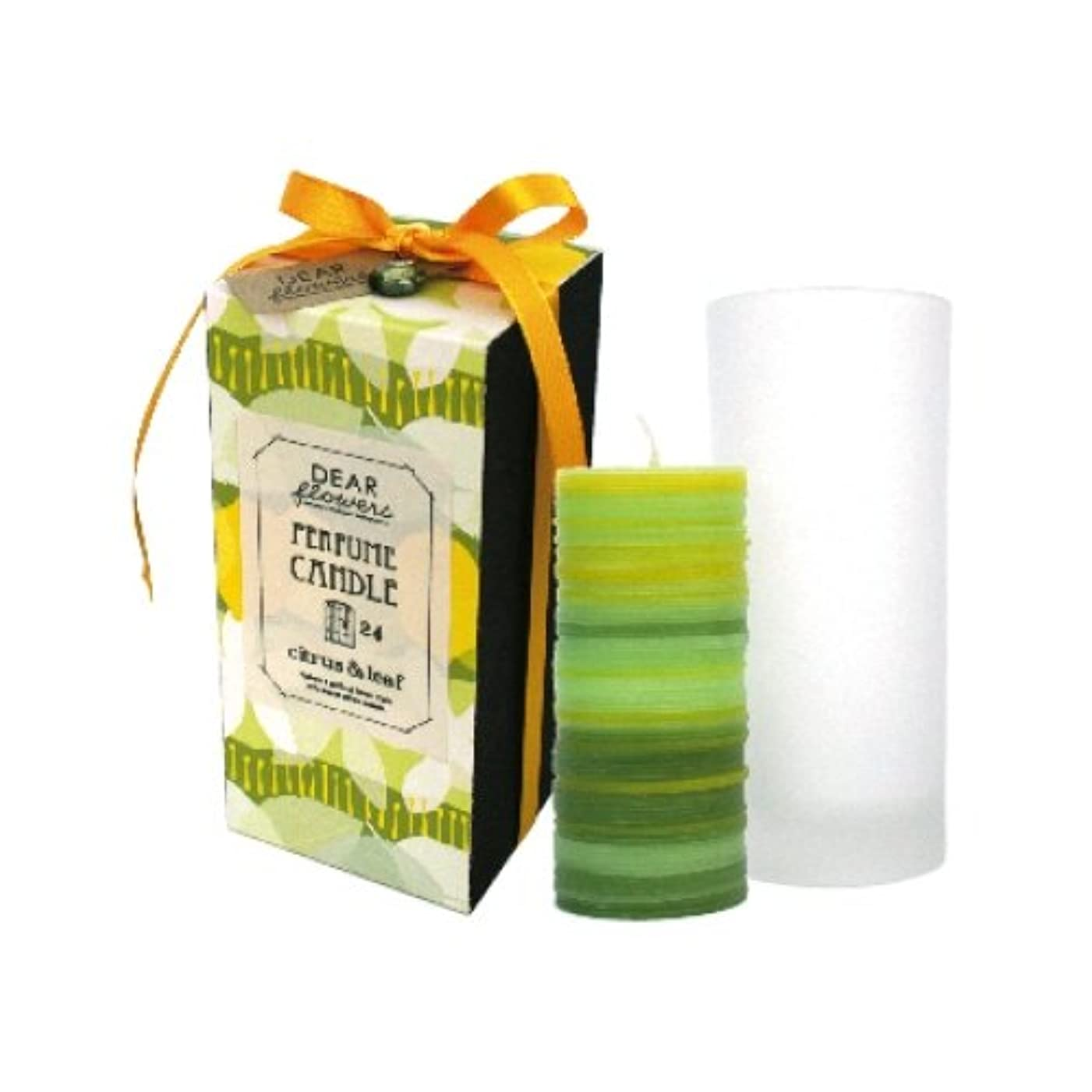 損なうカップ考えたディアフラワーズ レイヤードキャンドル レモンの花と棘